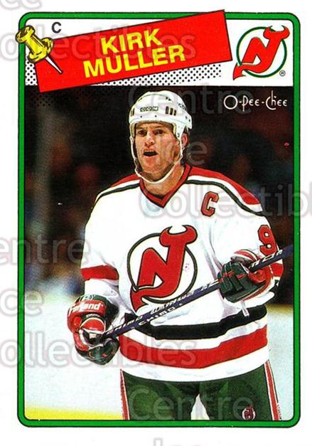 1988-89 O-Pee-Chee #84 Kirk Muller<br/>9 In Stock - $1.00 each - <a href=https://centericecollectibles.foxycart.com/cart?name=1988-89%20O-Pee-Chee%20%2384%20Kirk%20Muller...&quantity_max=9&price=$1.00&code=169373 class=foxycart> Buy it now! </a>