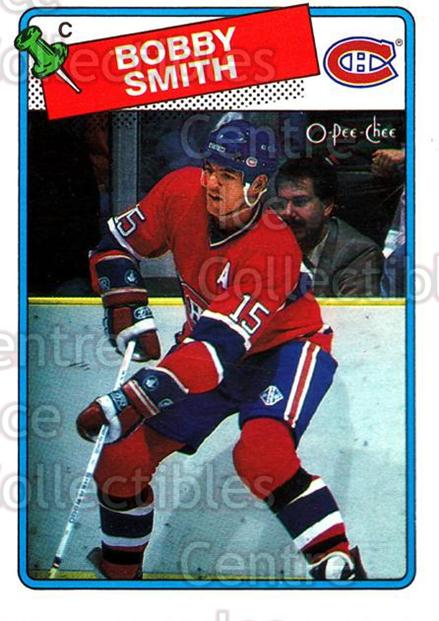 1988-89 O-Pee-Chee #88 Bobby Smith<br/>8 In Stock - $1.00 each - <a href=https://centericecollectibles.foxycart.com/cart?name=1988-89%20O-Pee-Chee%20%2388%20Bobby%20Smith...&quantity_max=8&price=$1.00&code=169377 class=foxycart> Buy it now! </a>