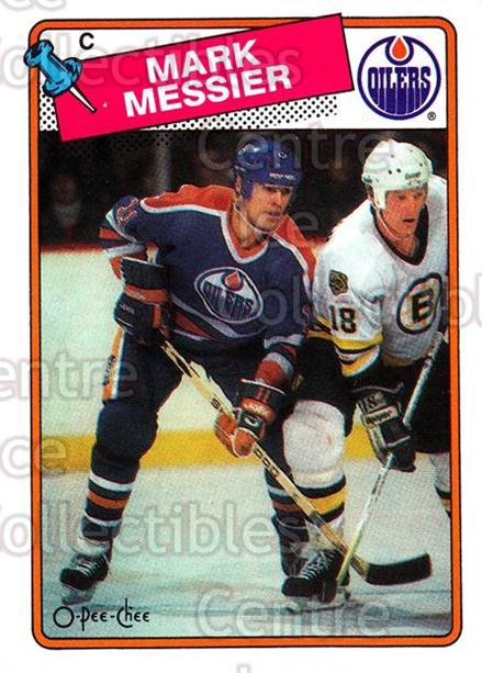 1988-89 O-Pee-Chee #93 Mark Messier<br/>6 In Stock - $2.00 each - <a href=https://centericecollectibles.foxycart.com/cart?name=1988-89%20O-Pee-Chee%20%2393%20Mark%20Messier...&quantity_max=6&price=$2.00&code=169383 class=foxycart> Buy it now! </a>