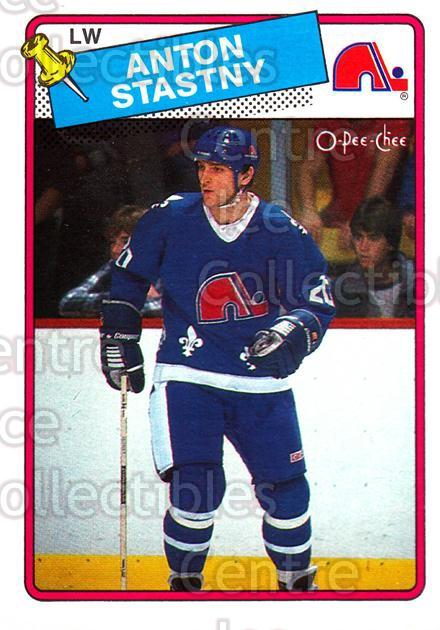 1988-89 O-Pee-Chee #98 Anton Stastny<br/>8 In Stock - $1.00 each - <a href=https://centericecollectibles.foxycart.com/cart?name=1988-89%20O-Pee-Chee%20%2398%20Anton%20Stastny...&quantity_max=8&price=$1.00&code=169387 class=foxycart> Buy it now! </a>