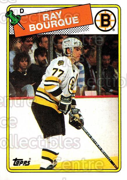 1988-89 Topps #73 Ray Bourque<br/>6 In Stock - $2.00 each - <a href=https://centericecollectibles.foxycart.com/cart?name=1988-89%20Topps%20%2373%20Ray%20Bourque...&quantity_max=6&price=$2.00&code=169425 class=foxycart> Buy it now! </a>