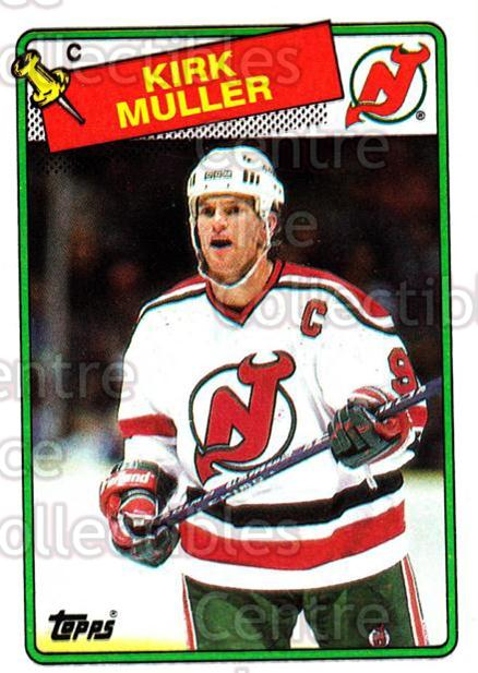 1988-89 Topps #84 Kirk Muller<br/>6 In Stock - $1.00 each - <a href=https://centericecollectibles.foxycart.com/cart?name=1988-89%20Topps%20%2384%20Kirk%20Muller...&quantity_max=6&price=$1.00&code=169437 class=foxycart> Buy it now! </a>