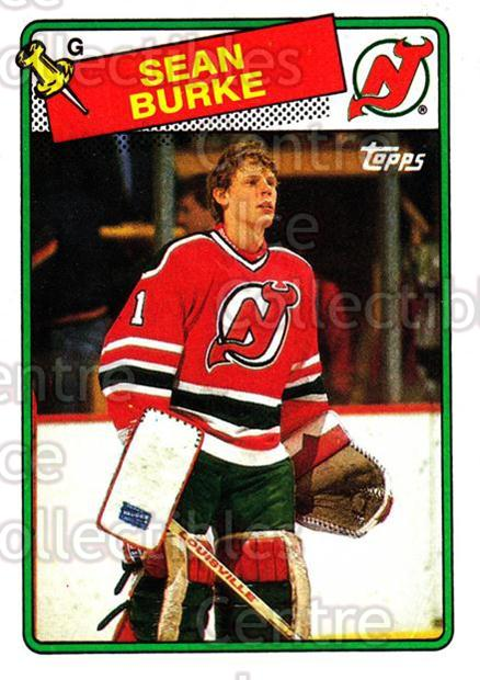 1988-89 Topps #94 Sean Burke<br/>23 In Stock - $2.00 each - <a href=https://centericecollectibles.foxycart.com/cart?name=1988-89%20Topps%20%2394%20Sean%20Burke...&price=$2.00&code=169448 class=foxycart> Buy it now! </a>