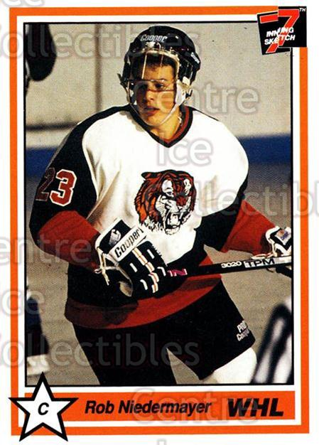 1990-91 7th Inning Sketch WHL #29 Rob Niedermayer<br/>5 In Stock - $1.00 each - <a href=https://centericecollectibles.foxycart.com/cart?name=1990-91%207th%20Inning%20Sketch%20WHL%20%2329%20Rob%20Niedermayer...&quantity_max=5&price=$1.00&code=169513 class=foxycart> Buy it now! </a>