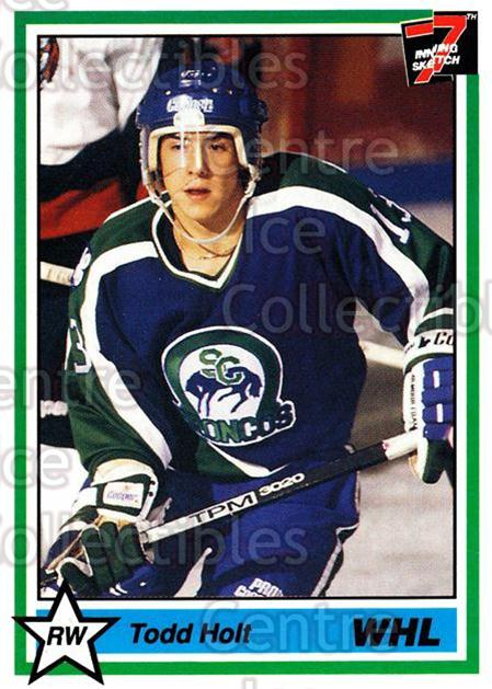 1990-91 7th Inning Sketch WHL #48 Todd Holt<br/>8 In Stock - $1.00 each - <a href=https://centericecollectibles.foxycart.com/cart?name=1990-91%207th%20Inning%20Sketch%20WHL%20%2348%20Todd%20Holt...&quantity_max=8&price=$1.00&code=169590 class=foxycart> Buy it now! </a>