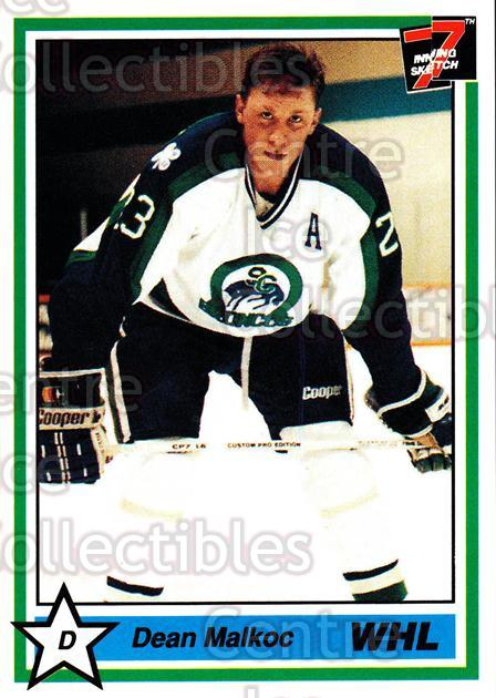 1990-91 7th Inning Sketch WHL #69 Dean Malkoc<br/>9 In Stock - $1.00 each - <a href=https://centericecollectibles.foxycart.com/cart?name=1990-91%207th%20Inning%20Sketch%20WHL%20%2369%20Dean%20Malkoc...&quantity_max=9&price=$1.00&code=169613 class=foxycart> Buy it now! </a>