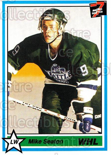 1990-91 7th Inning Sketch WHL #8 Mike Seaton<br/>8 In Stock - $1.00 each - <a href=https://centericecollectibles.foxycart.com/cart?name=1990-91%207th%20Inning%20Sketch%20WHL%20%238%20Mike%20Seaton...&price=$1.00&code=169625 class=foxycart> Buy it now! </a>