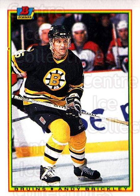 1990-91 Bowman #27 Andy Brickley<br/>5 In Stock - $1.00 each - <a href=https://centericecollectibles.foxycart.com/cart?name=1990-91%20Bowman%20%2327%20Andy%20Brickley...&quantity_max=5&price=$1.00&code=169681 class=foxycart> Buy it now! </a>