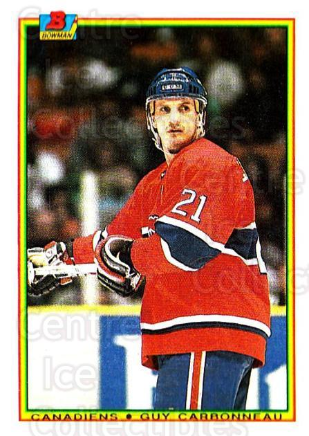 1990-91 Bowman #44 Guy Carbonneau<br/>5 In Stock - $1.00 each - <a href=https://centericecollectibles.foxycart.com/cart?name=1990-91%20Bowman%20%2344%20Guy%20Carbonneau...&quantity_max=5&price=$1.00&code=169700 class=foxycart> Buy it now! </a>
