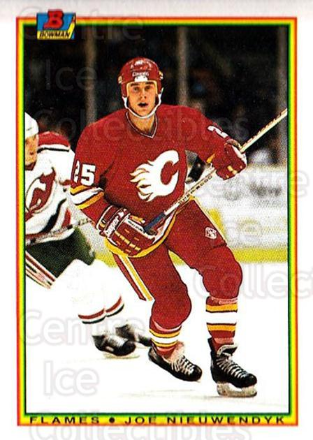 1990-91 Bowman #91 Joe Nieuwendyk<br/>5 In Stock - $1.00 each - <a href=https://centericecollectibles.foxycart.com/cart?name=1990-91%20Bowman%20%2391%20Joe%20Nieuwendyk...&quantity_max=5&price=$1.00&code=169752 class=foxycart> Buy it now! </a>