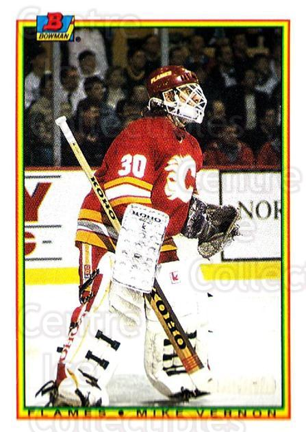 1990-91 Bowman #94 Mike Vernon<br/>2 In Stock - $1.00 each - <a href=https://centericecollectibles.foxycart.com/cart?name=1990-91%20Bowman%20%2394%20Mike%20Vernon...&quantity_max=2&price=$1.00&code=169755 class=foxycart> Buy it now! </a>