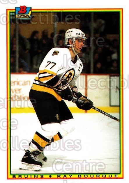 1990-91 Bowman Tiffany #31 Ray Bourque<br/>5 In Stock - $3.00 each - <a href=https://centericecollectibles.foxycart.com/cart?name=1990-91%20Bowman%20Tiffany%20%2331%20Ray%20Bourque...&quantity_max=5&price=$3.00&code=169807 class=foxycart> Buy it now! </a>