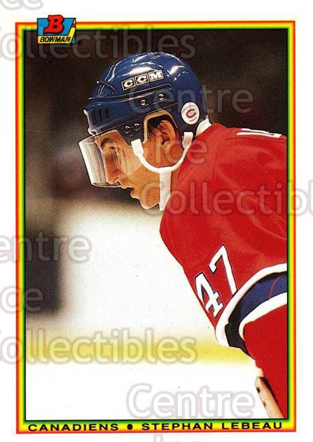 1990-91 Bowman Tiffany #53 Stephan Lebeau<br/>12 In Stock - $2.00 each - <a href=https://centericecollectibles.foxycart.com/cart?name=1990-91%20Bowman%20Tiffany%20%2353%20Stephan%20Lebeau...&quantity_max=12&price=$2.00&code=169830 class=foxycart> Buy it now! </a>