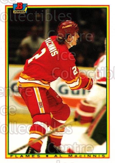 1990-91 Bowman Tiffany #93 Al MacInnis<br/>12 In Stock - $2.00 each - <a href=https://centericecollectibles.foxycart.com/cart?name=1990-91%20Bowman%20Tiffany%20%2393%20Al%20MacInnis...&quantity_max=12&price=$2.00&code=169872 class=foxycart> Buy it now! </a>