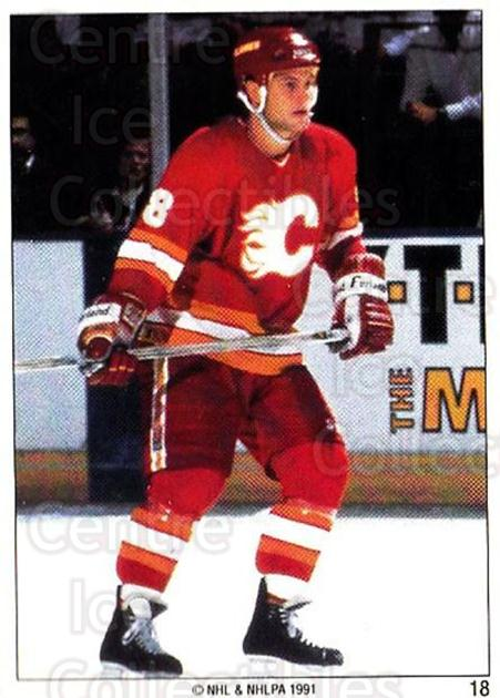 1991 Calgary Flames Panini Team Stickers #18 Paul Ranheim<br/>2 In Stock - $3.00 each - <a href=https://centericecollectibles.foxycart.com/cart?name=1991%20Calgary%20Flames%20Panini%20Team%20Stickers%20%2318%20Paul%20Ranheim...&quantity_max=2&price=$3.00&code=16993 class=foxycart> Buy it now! </a>
