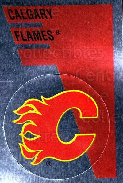 1991-92 Panini Stickers #153 Calgary Flames<br/>7 In Stock - $1.00 each - <a href=https://centericecollectibles.foxycart.com/cart?name=1991-92%20Panini%20Stickers%20%23153%20Calgary%20Flames...&quantity_max=7&price=$1.00&code=17009 class=foxycart> Buy it now! </a>