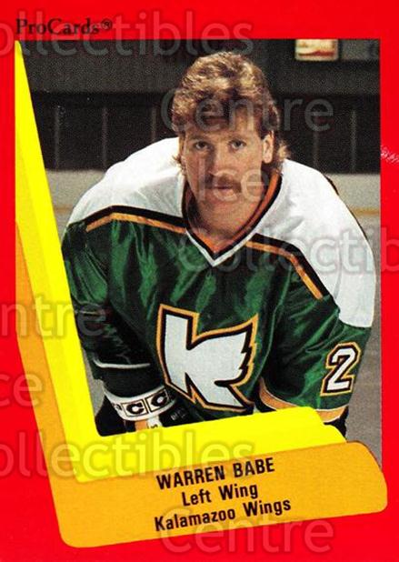 1990-91 ProCards AHL IHL #101 Warren Babe<br/>15 In Stock - $2.00 each - <a href=https://centericecollectibles.foxycart.com/cart?name=1990-91%20ProCards%20AHL%20IHL%20%23101%20Warren%20Babe...&quantity_max=15&price=$2.00&code=170375 class=foxycart> Buy it now! </a>