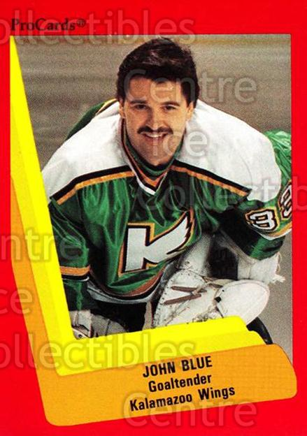 1990-91 ProCards AHL IHL #103 John Blue<br/>19 In Stock - $2.00 each - <a href=https://centericecollectibles.foxycart.com/cart?name=1990-91%20ProCards%20AHL%20IHL%20%23103%20John%20Blue...&quantity_max=19&price=$2.00&code=170377 class=foxycart> Buy it now! </a>