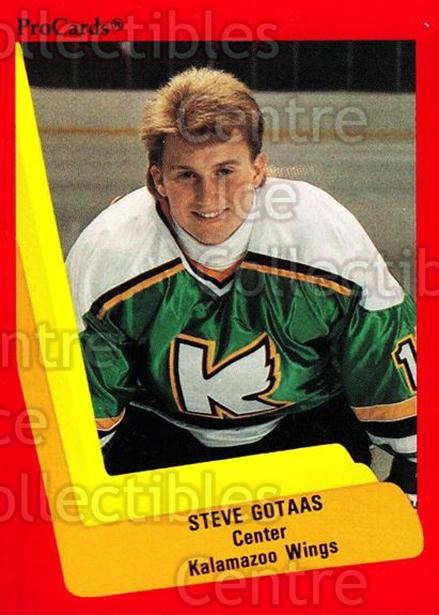 1990-91 ProCards AHL IHL #112 Steve Gotaas<br/>11 In Stock - $2.00 each - <a href=https://centericecollectibles.foxycart.com/cart?name=1990-91%20ProCards%20AHL%20IHL%20%23112%20Steve%20Gotaas...&quantity_max=11&price=$2.00&code=170386 class=foxycart> Buy it now! </a>