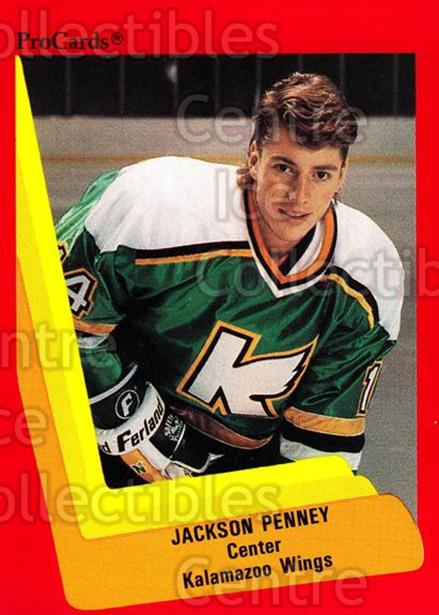 1990-91 ProCards AHL IHL #115 Jackson Penney<br/>19 In Stock - $2.00 each - <a href=https://centericecollectibles.foxycart.com/cart?name=1990-91%20ProCards%20AHL%20IHL%20%23115%20Jackson%20Penney...&quantity_max=19&price=$2.00&code=170389 class=foxycart> Buy it now! </a>