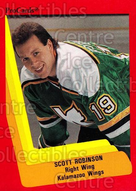 1990-91 ProCards AHL IHL #118 Scott Robinson<br/>21 In Stock - $2.00 each - <a href=https://centericecollectibles.foxycart.com/cart?name=1990-91%20ProCards%20AHL%20IHL%20%23118%20Scott%20Robinson...&quantity_max=21&price=$2.00&code=170392 class=foxycart> Buy it now! </a>