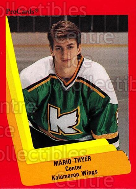 1990-91 ProCards AHL IHL #119 Mario Thyer<br/>20 In Stock - $2.00 each - <a href=https://centericecollectibles.foxycart.com/cart?name=1990-91%20ProCards%20AHL%20IHL%20%23119%20Mario%20Thyer...&quantity_max=20&price=$2.00&code=170393 class=foxycart> Buy it now! </a>
