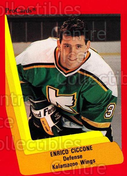 1990-91 ProCards AHL IHL #120 Enrico Ciccone<br/>19 In Stock - $2.00 each - <a href=https://centericecollectibles.foxycart.com/cart?name=1990-91%20ProCards%20AHL%20IHL%20%23120%20Enrico%20Ciccone...&quantity_max=19&price=$2.00&code=170395 class=foxycart> Buy it now! </a>