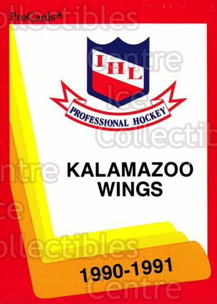 1990-91 ProCards AHL IHL #122 Kalamazoo Red Wings, Checklist<br/>22 In Stock - $2.00 each - <a href=https://centericecollectibles.foxycart.com/cart?name=1990-91%20ProCards%20AHL%20IHL%20%23122%20Kalamazoo%20Red%20W...&quantity_max=22&price=$2.00&code=170397 class=foxycart> Buy it now! </a>