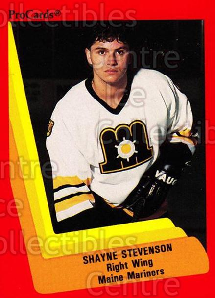 1990-91 ProCards AHL IHL #123 Shayne Stevenson<br/>22 In Stock - $2.00 each - <a href=https://centericecollectibles.foxycart.com/cart?name=1990-91%20ProCards%20AHL%20IHL%20%23123%20Shayne%20Stevenso...&quantity_max=22&price=$2.00&code=170398 class=foxycart> Buy it now! </a>