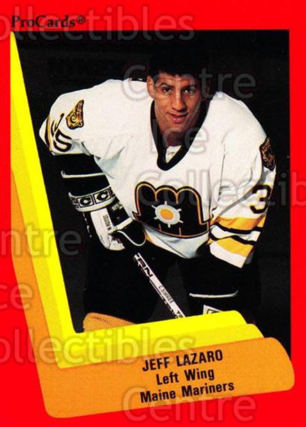 1990-91 ProCards AHL IHL #124 Jeff Lazaro<br/>22 In Stock - $2.00 each - <a href=https://centericecollectibles.foxycart.com/cart?name=1990-91%20ProCards%20AHL%20IHL%20%23124%20Jeff%20Lazaro...&price=$2.00&code=170399 class=foxycart> Buy it now! </a>