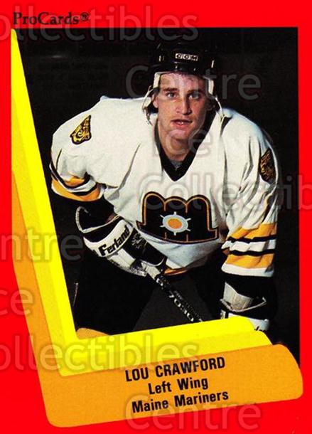 1990-91 ProCards AHL IHL #138 Lou Crawford<br/>21 In Stock - $2.00 each - <a href=https://centericecollectibles.foxycart.com/cart?name=1990-91%20ProCards%20AHL%20IHL%20%23138%20Lou%20Crawford...&quantity_max=21&price=$2.00&code=170413 class=foxycart> Buy it now! </a>