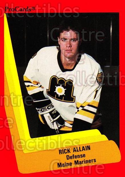 1990-91 ProCards AHL IHL #139 Rick Allain<br/>23 In Stock - $2.00 each - <a href=https://centericecollectibles.foxycart.com/cart?name=1990-91%20ProCards%20AHL%20IHL%20%23139%20Rick%20Allain...&quantity_max=23&price=$2.00&code=170414 class=foxycart> Buy it now! </a>