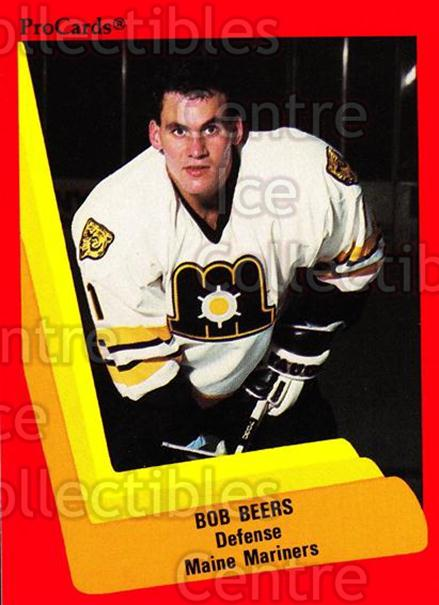 1990-91 ProCards AHL IHL #140 Bob Beers<br/>22 In Stock - $2.00 each - <a href=https://centericecollectibles.foxycart.com/cart?name=1990-91%20ProCards%20AHL%20IHL%20%23140%20Bob%20Beers...&quantity_max=22&price=$2.00&code=170416 class=foxycart> Buy it now! </a>