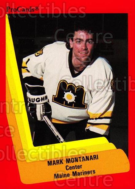 1990-91 ProCards AHL IHL #142 Mark Montanari<br/>23 In Stock - $2.00 each - <a href=https://centericecollectibles.foxycart.com/cart?name=1990-91%20ProCards%20AHL%20IHL%20%23142%20Mark%20Montanari...&price=$2.00&code=170418 class=foxycart> Buy it now! </a>