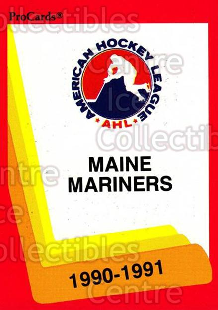 1990-91 ProCards AHL IHL #145 Maine Mariners, Checklist<br/>22 In Stock - $2.00 each - <a href=https://centericecollectibles.foxycart.com/cart?name=1990-91%20ProCards%20AHL%20IHL%20%23145%20Maine%20Mariners,...&quantity_max=22&price=$2.00&code=170421 class=foxycart> Buy it now! </a>
