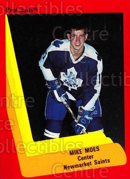 1990-91 ProCards AHL IHL #148 Mike Moes<br/>18 In Stock - $2.00 each - <a href=https://centericecollectibles.foxycart.com/cart?name=1990-91%20ProCards%20AHL%20IHL%20%23148%20Mike%20Moes...&quantity_max=18&price=$2.00&code=170424 class=foxycart> Buy it now! </a>