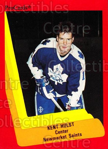 1990-91 ProCards AHL IHL #149 Kent Hulst<br/>22 In Stock - $2.00 each - <a href=https://centericecollectibles.foxycart.com/cart?name=1990-91%20ProCards%20AHL%20IHL%20%23149%20Kent%20Hulst...&quantity_max=22&price=$2.00&code=170425 class=foxycart> Buy it now! </a>