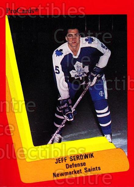 1990-91 ProCards AHL IHL #154 Jeff Serowik<br/>15 In Stock - $2.00 each - <a href=https://centericecollectibles.foxycart.com/cart?name=1990-91%20ProCards%20AHL%20IHL%20%23154%20Jeff%20Serowik...&quantity_max=15&price=$2.00&code=170431 class=foxycart> Buy it now! </a>