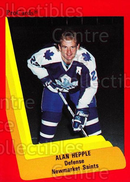 1990-91 ProCards AHL IHL #157 Alan Hepple<br/>20 In Stock - $2.00 each - <a href=https://centericecollectibles.foxycart.com/cart?name=1990-91%20ProCards%20AHL%20IHL%20%23157%20Alan%20Hepple...&quantity_max=20&price=$2.00&code=170434 class=foxycart> Buy it now! </a>
