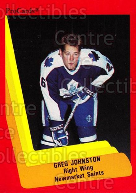 1990-91 ProCards AHL IHL #160 Greg Johnston<br/>19 In Stock - $2.00 each - <a href=https://centericecollectibles.foxycart.com/cart?name=1990-91%20ProCards%20AHL%20IHL%20%23160%20Greg%20Johnston...&quantity_max=19&price=$2.00&code=170437 class=foxycart> Buy it now! </a>