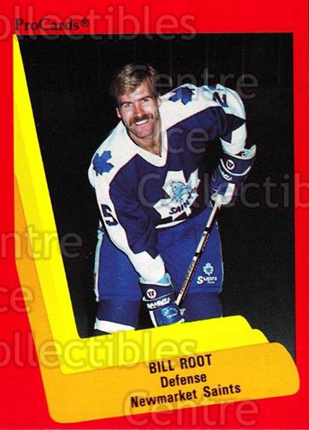 1990-91 ProCards AHL IHL #162 Bill Root<br/>21 In Stock - $2.00 each - <a href=https://centericecollectibles.foxycart.com/cart?name=1990-91%20ProCards%20AHL%20IHL%20%23162%20Bill%20Root...&quantity_max=21&price=$2.00&code=170439 class=foxycart> Buy it now! </a>