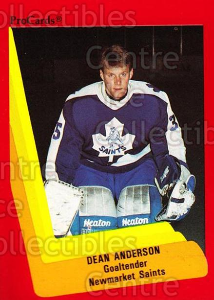 1990-91 ProCards AHL IHL #166 Dean Anderson<br/>20 In Stock - $2.00 each - <a href=https://centericecollectibles.foxycart.com/cart?name=1990-91%20ProCards%20AHL%20IHL%20%23166%20Dean%20Anderson...&quantity_max=20&price=$2.00&code=170443 class=foxycart> Buy it now! </a>