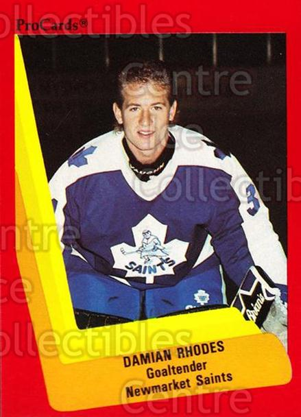 1990-91 ProCards AHL IHL #167 Damian Rhodes<br/>17 In Stock - $2.00 each - <a href=https://centericecollectibles.foxycart.com/cart?name=1990-91%20ProCards%20AHL%20IHL%20%23167%20Damian%20Rhodes...&quantity_max=17&price=$2.00&code=170444 class=foxycart> Buy it now! </a>