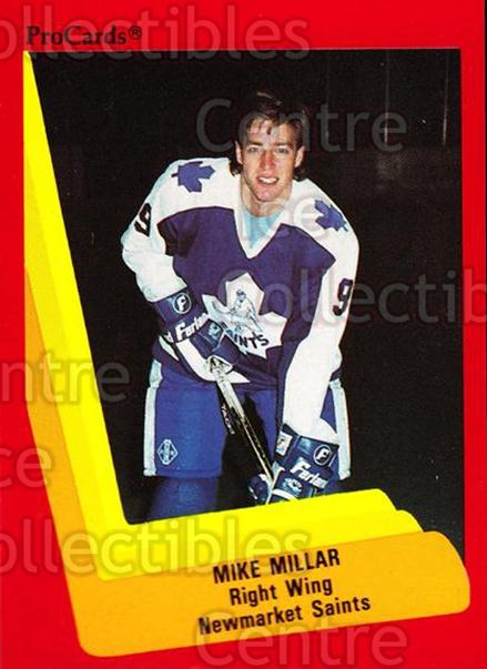 1990-91 ProCards AHL IHL #168 Mike Millar<br/>17 In Stock - $2.00 each - <a href=https://centericecollectibles.foxycart.com/cart?name=1990-91%20ProCards%20AHL%20IHL%20%23168%20Mike%20Millar...&quantity_max=17&price=$2.00&code=170445 class=foxycart> Buy it now! </a>