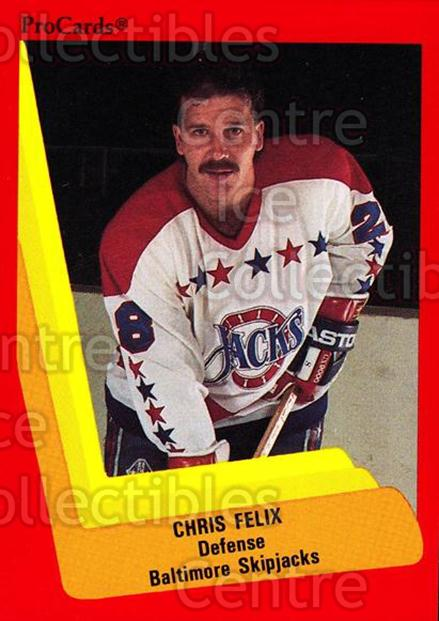 1990-91 ProCards AHL IHL #213 Chris Felix<br/>20 In Stock - $2.00 each - <a href=https://centericecollectibles.foxycart.com/cart?name=1990-91%20ProCards%20AHL%20IHL%20%23213%20Chris%20Felix...&quantity_max=20&price=$2.00&code=170491 class=foxycart> Buy it now! </a>