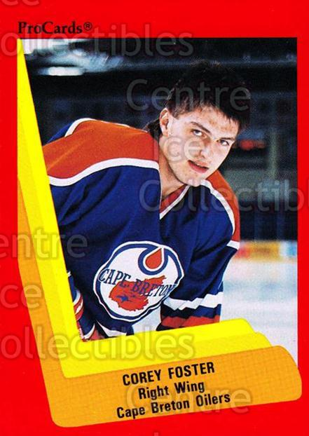 1990-91 ProCards AHL IHL #231 Corey Foster<br/>23 In Stock - $2.00 each - <a href=https://centericecollectibles.foxycart.com/cart?name=1990-91%20ProCards%20AHL%20IHL%20%23231%20Corey%20Foster...&quantity_max=23&price=$2.00&code=170511 class=foxycart> Buy it now! </a>