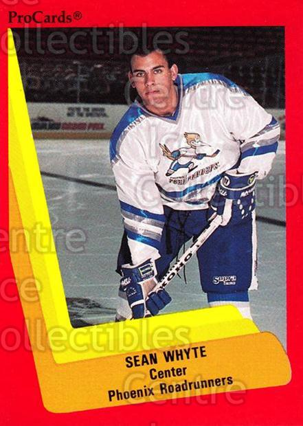 1990-91 ProCards AHL IHL #346 Sean Whyte<br/>3 In Stock - $2.00 each - <a href=https://centericecollectibles.foxycart.com/cart?name=1990-91%20ProCards%20AHL%20IHL%20%23346%20Sean%20Whyte...&quantity_max=3&price=$2.00&code=170627 class=foxycart> Buy it now! </a>