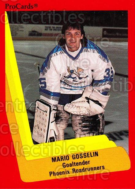 1990-91 ProCards AHL IHL #349 Mario Gosselin<br/>5 In Stock - $2.00 each - <a href=https://centericecollectibles.foxycart.com/cart?name=1990-91%20ProCards%20AHL%20IHL%20%23349%20Mario%20Gosselin...&quantity_max=5&price=$2.00&code=170630 class=foxycart> Buy it now! </a>
