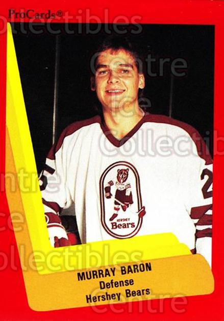 1990-91 ProCards AHL IHL #35 Murray Baron<br/>22 In Stock - $2.00 each - <a href=https://centericecollectibles.foxycart.com/cart?name=1990-91%20ProCards%20AHL%20IHL%20%2335%20Murray%20Baron...&quantity_max=22&price=$2.00&code=170631 class=foxycart> Buy it now! </a>