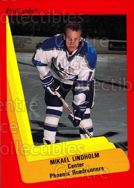 1990-91 ProCards AHL IHL #351 Mikael Lindholm<br/>1 In Stock - $2.00 each - <a href=https://centericecollectibles.foxycart.com/cart?name=1990-91%20ProCards%20AHL%20IHL%20%23351%20Mikael%20Lindholm...&quantity_max=1&price=$2.00&code=170633 class=foxycart> Buy it now! </a>